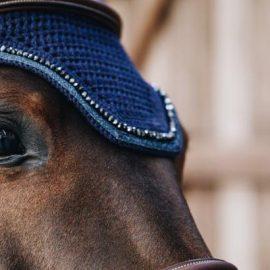 Kentucky Horsewear Fly Veil Wellington Glitter Soundless Navy