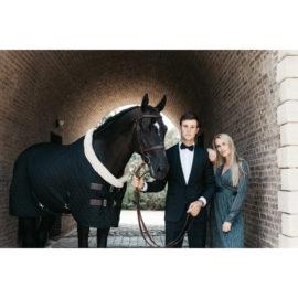 Kentucky Horsewear Cream/Black Show Rug