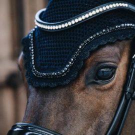 Kentucky Horsewear Fly Veil Wellington Stone & Pearl Soundless Black