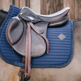 Kentucky Horsewear Saddle Pad Pearls Show Jumping Navy
