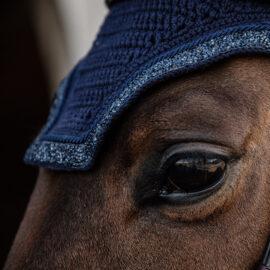 Kentucky Horsewear Fly Veil Glitter and Stone Navy